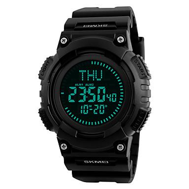 levne Pánské-SKMEI Pánské Sportovní hodinky Vojenské hodinky Náramkové hodinky japonština Digitální Z umělé kůže Černá 50 m Voděodolné Alarm Kalendář Digitální Módní Unikátní kreativní sledování - Červená Zelen