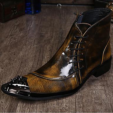 preiswerte Besondere Angebote-Herrn Formal Schuhe Nappaleder Herbst / Winter Retro Stiefel Booties / Stiefeletten Schwarz / Hellbraun / Grau / Party & Festivität / Party & Festivität / Büro & Karriere / Fashion Boots