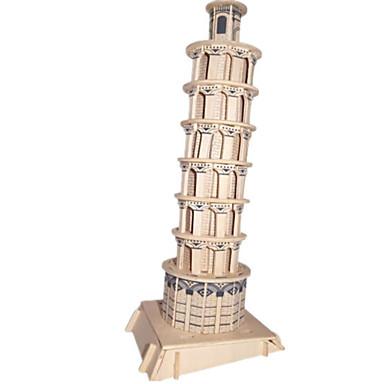 levne 3D puzzle-3D puzzle Puzzle Dřevěný model Slavné stavby Dům Dřevěný Přírodní dřevo Unisex Hračky Dárek