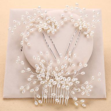 povoljno Party pokrivala za glavu-Imitacija bisera Kose za kosu / Šeširi s Cvjetni print 1pc Vjenčanje / Special Occasion / godišnjica Glava