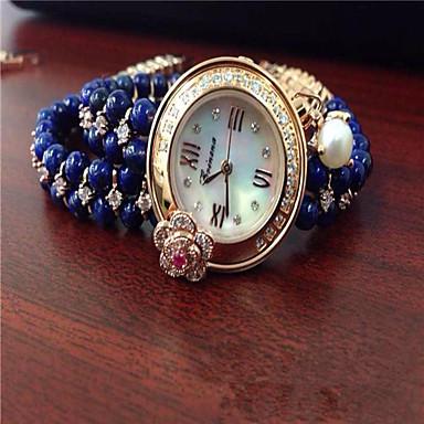 levne Dámské-Dámské Módní hodinky Náramkové hodinky Křemenný Modrá Analogové Světle modrá Modrá / Nerez