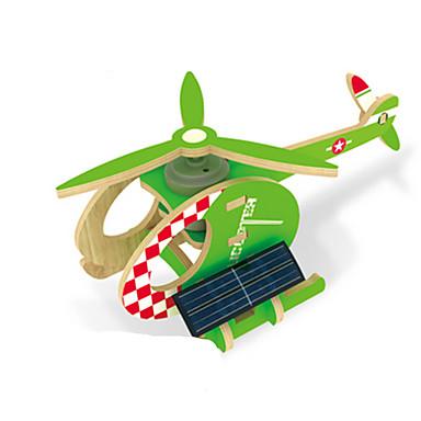 voordelige 3D-puzzels-Speelgoed op zonne-energie 3D-puzzels Legpuzzel Vliegtuig Helikopter Op Zonne-Energie DHZ Puinen Klassiek Kinderen Speeltjes Geschenk