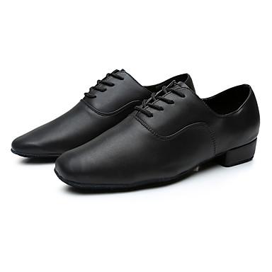 cheap Ballroom Shoes & Modern Dance Shoes-Men's Dance Shoes Pigskin Latin Shoes Sneaker Customized Heel Customizable Black / Indoor / EU43