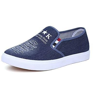 Hombre Zapatos Cuero Primavera Confort Zapatos de taco bajo y Slip-On Blanco / Azul Oscuro / Azul Claro 2ox9vLv