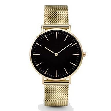 levne Dámské-Muži ženy Náramkové hodinky zlaté hodinky Křemenný Nerez Černá / Stříbro / Zlatá Hodinky na běžné nošení Analogové dámy Na běžné nošení Módní Minimalistické - Černá Růžové zlato Gold / White Jeden