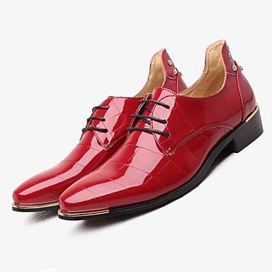abordables Oxfords Homme-Homme Chaussures Formal Chaussures habillées Automne / Hiver Mariage Habillé Bureau et carrière Chaussures de mariage PUT Noir / Rouge / Bleu marine / EU42