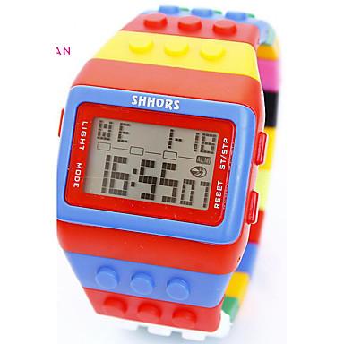 levne Dámské-Pánské Dámské Sportovní hodinky Vojenské hodinky Inteligentní hodinky Křemenný Z umělé kůže Vícebarevný 30 m Voděodolné Chronograf kreativita Digitální Přívěšky Luxus Klasické Vintage Na běžné nošení