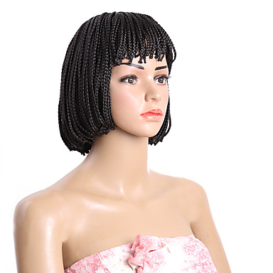 cheap Beauty & Hair-Synthetic Wig Style Bob Wig Short Brown Natural Black Synthetic Hair Black Brown Wig