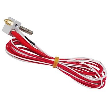 3d pisač dijelovi 12v 1.75mm 0.4mm mk8 mlaznica ekstruder filament hotend za prusa i3 3d pisač