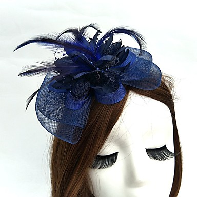 cheap Party Accessories-Net Fascinators / Hats / Headwear with Floral 1pc Wedding / Special Occasion / Tea Party Headpiece
