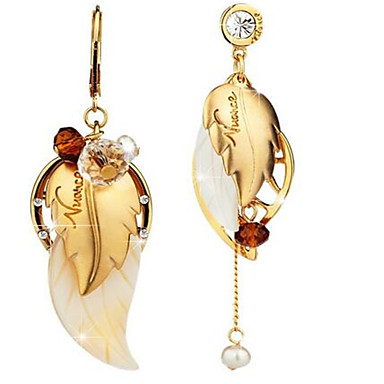 povoljno Modne naušnice-Žene Sitne naušnice neprilagođeno Long Posude Leaf Shape dame Personalized Vintage Naušnice Jewelry Obala / Kava Za Praznik Izlasci Plaža