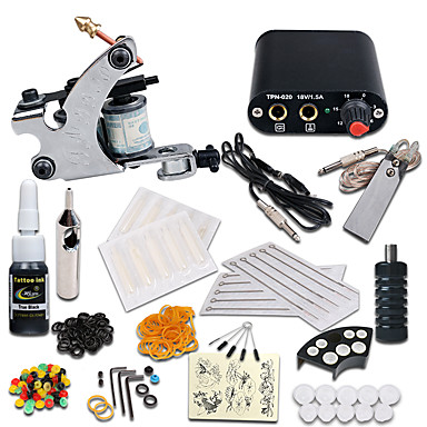 Tattoo Machine Starter Kit - 1 pcs Tattoo Machines with 1 x 5 ml ...