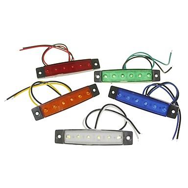 billige Automotiv-SENCART 1 Deler Trailer / Motorsykkel / Bil Elpærer 1.5W SMD LED 120lm 6 utvendig Lights For Universell Alle år