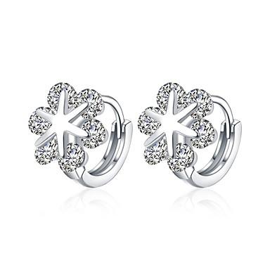 Women S Stud Earrings Hoop Clip Synthetic Diamond Aaa Cubic Zirconia Personalized Fashion Zircon Silver 6248302 2018