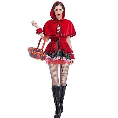 Lilla Rödluvan Cosplay Kostymer Dräkter Jul Halloween Karnival Oktoberfest  Nyår Festival   högtid Halloweenkostymer Röd Ensfärgat Mode 6246848 2019 –   22.99 197f31fae0fc0