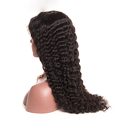 cheap Beauty & Hair-Human Hair Glueless Lace Front Lace Front Wig style Brazilian Hair Curly Wig 150% Density with Baby Hair Natural Hairline For Black Women Women's Short Medium Length Long Human Hair Lace Wig
