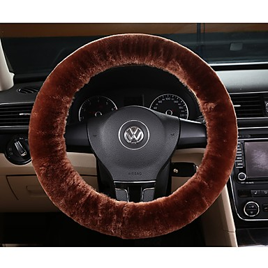 cheap Steering Wheel Covers-Faux Wool Steering Wheel Cover Car Wheel Protector up to 38cmCar Steering Wheel Cover Soft Fluffy Natural Sheepskin Vehicle Non-slip Wheel Cushion Protector Universal Fit for 15 inch
