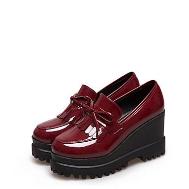 Mujer Zapatos Cuero Primavera Confort / Mary Jane Zapatos de taco bajo y Slip-On Tacón Cuña Negro Manchester Vente En Ligne Jeu De Haute Qualité 100% Authentique À Vendre 80wTiFq