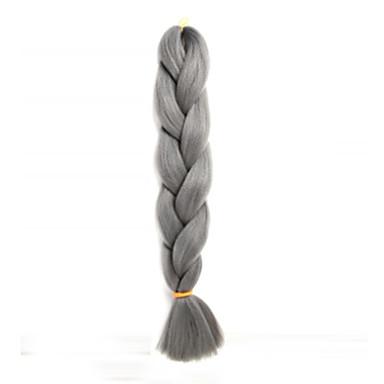 Hår till flätning Box Flätor Jumboflätor Syntetiskt hår 1pc / förpackning 3 rötter Hårflätor