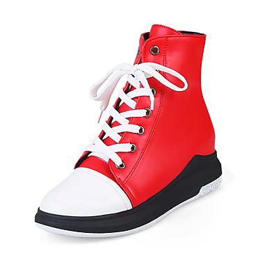 3c88ef84c4 Γυναικεία Δερματίνη Φθινόπωρο   Χειμώνας Λουράκι στον Αστράγαλο   Μοντέρνες  μπότες Μπότες Πλατφόρμα   Τακούνι Σφήνα Στρογγυλή Μύτη Μπότες στη Μέση της  ...