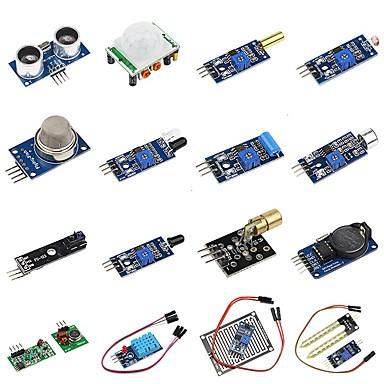 voordelige Elektrische apparatuur & benodigdheden-diy 16 in 1 sensor module kit voor frambozenpi