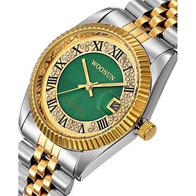 levne Pánské-Pánské Dámské Luxusní hodinky Módní hodinky Maketa Diamant Hodiny japonština Křemenný Nerez Černá / Stříbro / Zlatá 30 m Voděodolné Kalendář kreativita Analogové Přívěšky Luxus Třpyt Vintage Tečka -