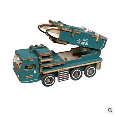 levne 3D puzzle-3D puzzle / Puzzle Automobily / Armáda Nový design / Udělej si sám Dřevěný Moderní Vojenské auto Dětské Dárek