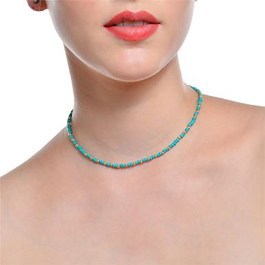 povoljno Modne ogrlice-Žene Choker oglice Lančići Boemski stil Legura Pink Svijetlo zelena Ogrlice Jewelry Za Party Dnevno