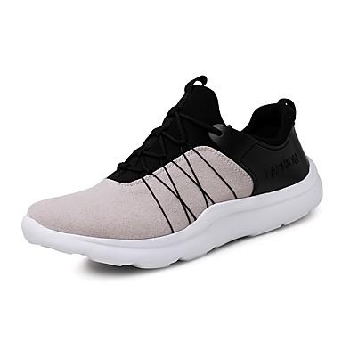 Hombre Zapatos Tul Verano Confort Zapatillas de Atletismo Running Blanco / Negro / Gris wHFoeJ0