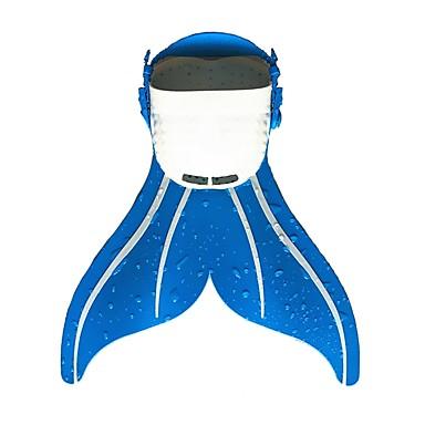 Fins de Mergulho Barbatanas sereia Fácil de Transportar Pala Curta Natação Mergulho Snorkeling PE - para Infantil Azul Rosa claro Azul / branco