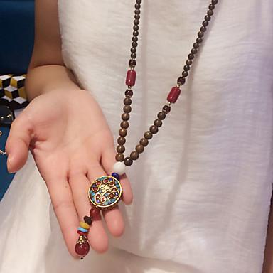levne Pro muže-Pánské Dámské Náhrdelníky s přívěšky Přizpůsobeno Módní Dřevo Duhová Náhrdelníky Šperky Pro Dar Denní