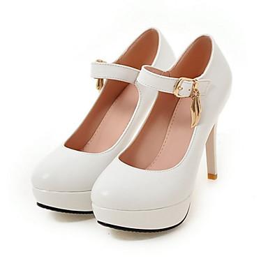 Zapatos blancos con hebilla para mujer Zl9wXn