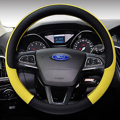 voordelige Auto-interieur accessoires-Auto-stuurhoezen Leder 38cm Koffie / Zwart / Paars / Zwart / Wit Voor Ford Focus / Escort / Fiesta Alle jaren