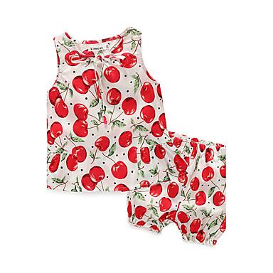povoljno Odjeća za bebe-Dijete Djevojčice Cvijetan Ležerno / za svaki dan Print Bez rukávů Komplet odjeće Obala / Dijete koje je tek prohodalo