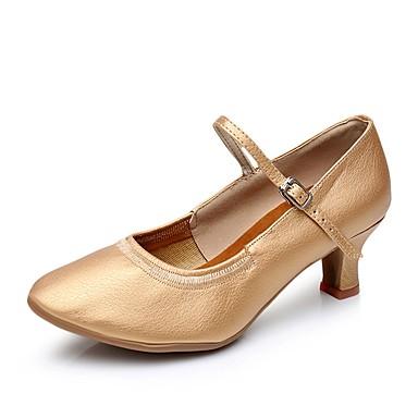 Γυναικεία Παπούτσια Χορού Χοιρόδερμα Μοντέρνα παπούτσια Τακούνια Προσαρμοσμένο τακούνι Εξατομικευμένο Καφέ / Ασημί / Εσωτερικό