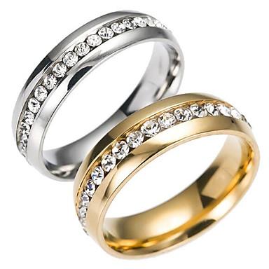 billige Båndringe-Herre Band Ring Evigheten Ring Gull Sølv Rustfritt Stål Titanium Stål Mote Bryllup Daglig Smykker