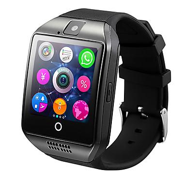 smartwatch q18 för android ios bluetooth pulsmätare vattentät sport kalorier brända kamera timer pedometrar väckarklocka