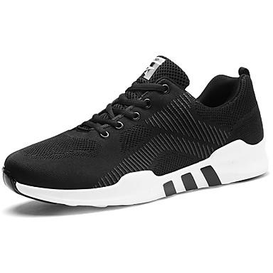 Hombre Zapatos Tul Invierno Confort Zapatillas de Atletismo Paseo Blanco / Negro / Azul 5Ap3z