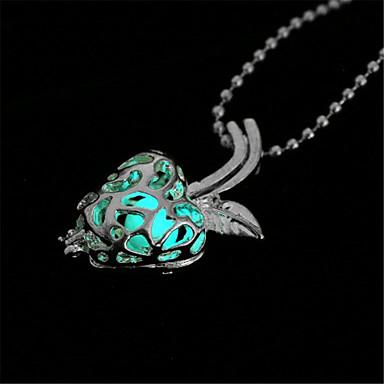 levne Dámské šperky-Dámské Světelný kámen Náhrdelníky s přívěšky Ovoce dámy Módní Svítící Světelný kámen Slitina Světle modrá Náhrdelníky Šperky Pro Halloween Klub