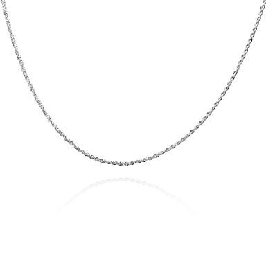 povoljno Modne ogrlice-Muškarci Žene Lančići Geometrijski Twist Circle Jednostavan Osnovni Moda Kamen Glina Pink Ogrlice Jewelry Za Dnevno Kauzalni