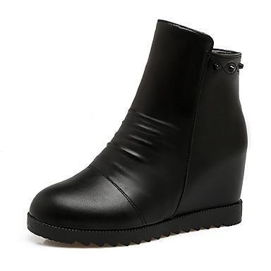 675008f37cb Mujer Zapatos Semicuero Otoño Invierno Botas de Moda Botas Plataforma Dedo  redondo Botines   Hasta el Tobillo Cremallera para Oficina y 6258362 2019 –  ...