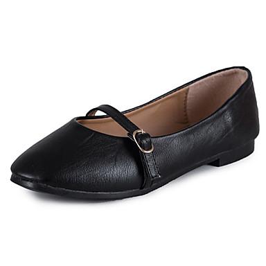 Mujer Zapatos PU Verano Confort Zapatos de taco bajo y Slip-On Tacón Cuña Dedo Puntiagudo Hebilla Negro boutique En Ligne De Vente En Ligne WBlcejJMq8