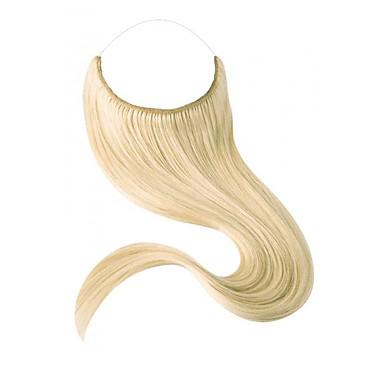 povoljno Ekstenzije za kosu-Flip In Proširenja ljudske kose Klasika Ljudska kosa Ekstenzije od ljudske kose Halo ekstenzije Žene Srednje smeđa
