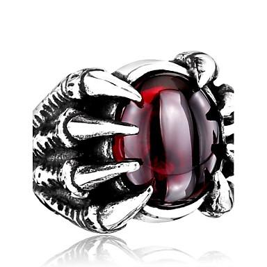 voordelige Herensieraden-Heren Ring Zwart Rood Roestvast staal Titanium Staal Gepersonaliseerde Modieus Dagelijks Causaal Sieraden Magie
