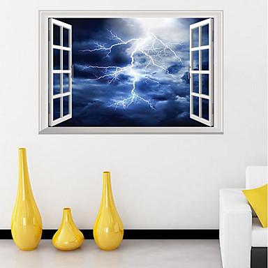 Lightning Vinyl Decal Wall Sticker Storm Bedroom Exotic Decor Thunder