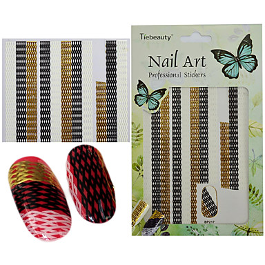 preiswerte Aufkleber für Nägel-1 pcs 3D Nails Nagelaufkleber Nagel-DIY-Werkzeuge Aufkleber Nagel Kunst Maniküre Pediküre 3D Modisch Alltag / 3D Nagel Sticker