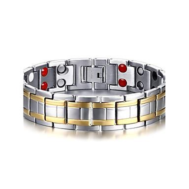 voordelige Herensieraden-Heren Armbanden met ketting en sluiting Bangles Tweekleurig Natuur Modieus Equilibrio Titanium Staal Armband sieraden Zilver Voor Lahja Dagelijks