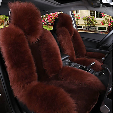 cheap Car Seat Covers-Black / Brown / Wine Wool Warm and Breathable Car Seat Covers Seat Covers Common For Universal Made of Australian Wool(Single Seat)