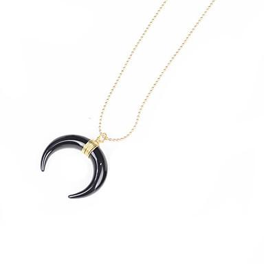 voordelige Herensieraden-Heren Dames Hangertjes ketting meetkundig Crescent Moon Bohémien Natuur Hoorn Roestvast staal Goud Zilver Kettingen Sieraden Voor Feest Toneel