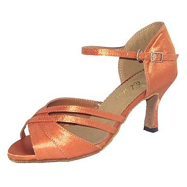 Scarpe Sandali balli per su Per Tacco misura latini donna Raso 5xnPxYwq